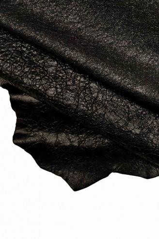 Italian leather, black laminated...