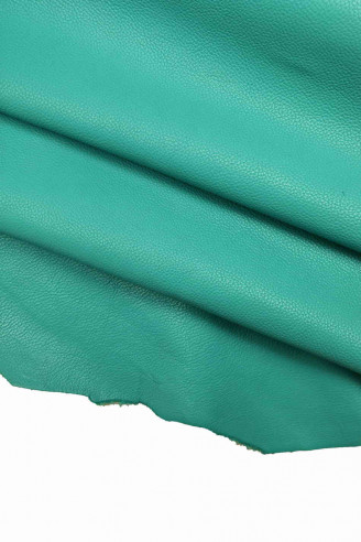 Italian leather, turquoise color...