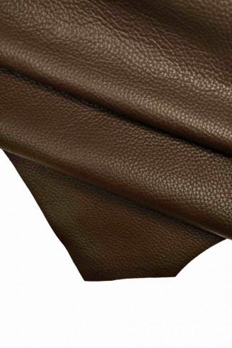 Italian leather, brown chocolate half...