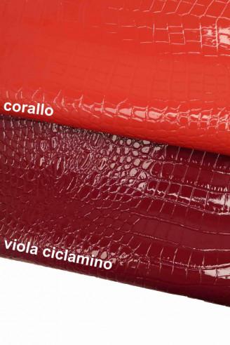 Italian leather, patent printed...