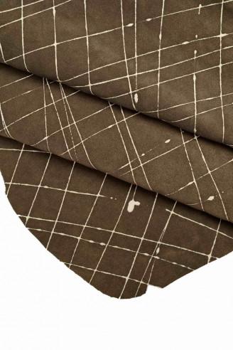 Italian leather, dark gray crust,...
