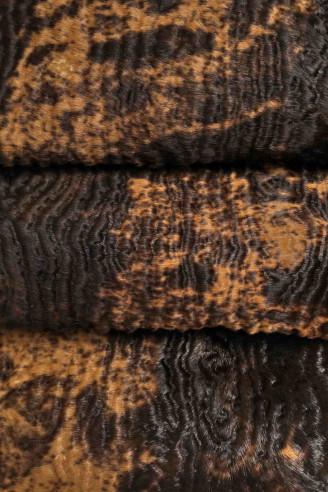 Italian leather, dark brown & beige...