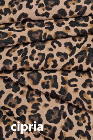 Italian leather, leopard spotted...