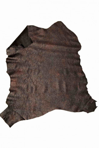 Italian leather soft skin   A5936-VT La Garzarara sporty looking size 45 x 70 cm washed crumpled effect light dusty pink hide