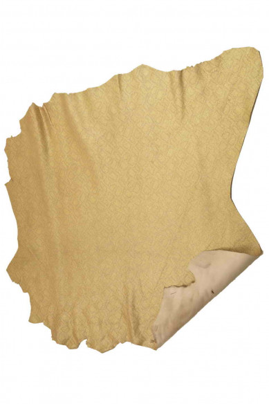 soft skin   A5695-MT  La Garzarara Italian leather laminated printed tejus suede hides available in two colors