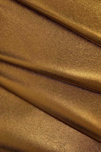 thickness 0.80.9 mm Italian leather size 22x27 inches rather soft skin    A6850-TB  La Garzarara semi glossy black nappa hide