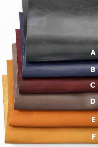 Leather calf pieces in various colors...