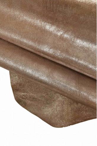 Italian leather, brown base goatskin,...